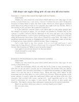 Mẫu đoạn văn Tiếng Anh theo các chủ đề cho trước