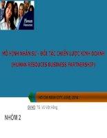 MÔ HÌNH NHÂN SỰ - ĐỐI TÁC CHIẾN LƯỢC KINH DOANH (HUMAN RESOUCES BUSINESS PARTNERSHIP)