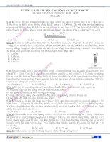 Tuyển tập 50 câu hỏi dao động cơ được lọc từ đề thi trường chuyên 2014 - 2015 (Phần 2)