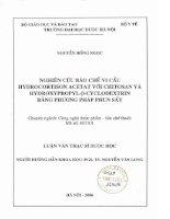 Nghiên cứu bào chế vi cầu hydrocortison acetat với chitosan và hydroxypropyl beta cyclodextrin bằng phương pháp phun sấy