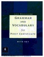 Grammar and Vocabulary for FCE (Ngữ pháp và Từ vựng thi FCE)