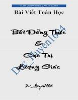 Bài viết Toán học Bất đẳng thức & cực trị lượng giác - Nguyễn Minh Đức