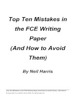 How to avoid mistakes in FCE writing