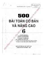500 BÀI TOÁN CƠ BẢN VÀ NÂNG CAO TOÁN 6  NGUYỄN ĐỨC TẤN