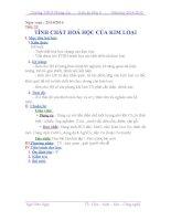 Tiết 22  Hóa 9  Tính chất hóa học của kim loại