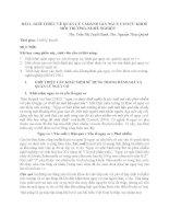 BÀI 1. GIỚI THIỆU VỀ QUẢN LÝ VÀ ĐÁNH GIÁ NGUY CƠ SỨC KHOẺ MÔI TRƯỜNG-NGHỀ NGHIỆP