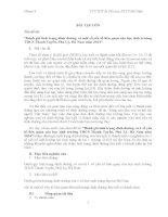 ĐỀ TÀI Đánh giá tình trạng dinh dưỡng và một số yếu tố liên quan của học sinh trường THCS Thanh Tuyền, Phủ Lý, Hà Nam năm 2014
