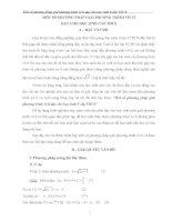 SKKN Một số phương pháp giải phương trình vô tỉ dạy cho học sinh ở cấp THCS