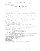 Giáo án ngữ văn 6 học kì I rất chi tiết
