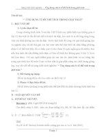 SKKN  Sáng kiến kinh nghiệm –  Ứng dụng của tỉ số thể tích trong giải toán
