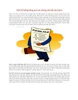Viết CV bằng tiếng anh và những điều nên tránh