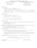 5 bộ đề thi thử của các trường có đáp án