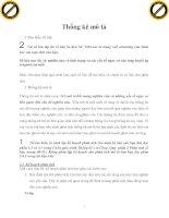 THỐNG KÊ MÔ TẢ, ĐẠI HỌC Y TẾ CÔNG CỘNG