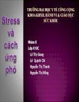 BÀI TẬP NHÓM-STRESS VÀ CÁCH ỨNG PHÓ, ĐẠI HỌC Y TẾ CÔNG CỘNG