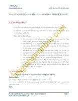 Bài giảng số 1. Các phương pháp tính thể tích khối chóp ôn thi đại học