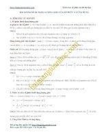 Bài giảng số 4. Dạng lượng giác của số phức và một vài ứng dụng
