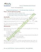 Bài giảng số 2. Thể tích khối lăng trụ ôn thi đại học