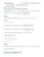 Bài toán khoảng cách và góc giữa hai mặt phẳng