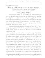 SKKN MỘT SỐ KINH NGHIỆM GIẢNG DẠY CÓ HIỆU QUẢ TIẾT LUYỆN TẬP HÌNH HỌC LỚP 7