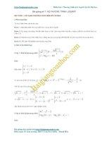 Bài giảng số 7. Các phương pháp giải hệ phương trình logarit thường gặp trong đề thi đại học