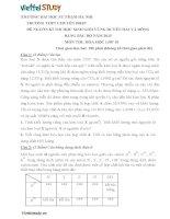 Đề đề xuất thi học sinh giỏi lớp 10 Duyên Hải môn Hóa Học trường Chuyên Sư Phạm  Hà Nội năm học 20142015