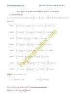Phương pháp tích phân từng phần trong các bài toán ôn thi đại học