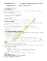 Bài giảng số 7. Các dạng toán về phương trình mặt cầu trong hệ tọa độ Oxyz