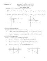 ứng dụng đạo hàm toán 12
