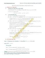 Các bài toán thiết lập phương trình mặt phẳng