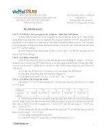 Đề đề xuất thi học sinh giỏi lớp 10 Duyên Hải môn Hóa Học tỉnh Quảng Ngãi năm học 20142015