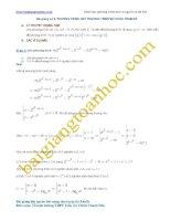 Bài giảng số 8. Các bài toán phương trình mũ và logarit chứa tham số