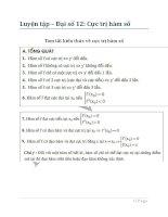 Bài tập cực trị hàm số toán 12 (có đáp án)