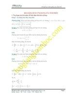 Bài giảng số 7. Ứng dụng của tích phân để tính diện tích hình phẳng và thể tích tròn xoay