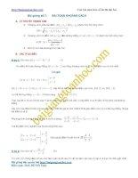 Bài giảng số 6. Bài toán khoảng cách trong câu hỏi phụ hàm số