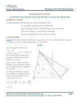 Các phương pháp xác định tâm và bán kính mặt cầu ngoại tiếp khối chóp