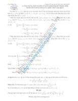 phương pháp tìm GTLN và GTNN của hàm ba biến