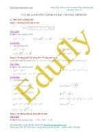 Vấn đề 4. Các dạng toán phương trình mũ thường gặp