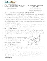 Đề đề xuất thi học sinh giỏi lớp 10 Duyên Hải môn Hóa Học tỉnh Lào Cai năm học 20142015