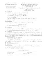 Đề thi học sinh giỏi môn toán 9 tỉnh Hải Dương năm học 2014  2015(có đáp án)