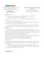 Đề đề xuất thi học sinh giỏi lớp 10 Duyên Hải môn Hóa Học tỉnh Phú Thọ năm học 20142015