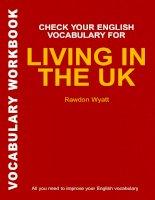 Check Your English Vocabulary for Living in The Uk (Tài liệu Kiểm tra từ vựng tiếng Anh của bạn để sống ở Anh)