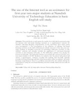 The use of the Internet tool as an assistance for first-year non-major students at Namdinh University of Technology Education in basic English self-study