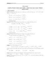 ngân hàng câu hỏi và đáp án hóa đại cương chương 6  điện hóa học