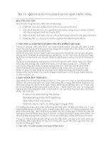 Bài 10 Quá trình dịch và phân loại các bệnh nhiễm trùng