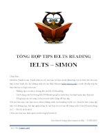 TỔNG hợp TIPS IELTS READING   IELTS SIMON