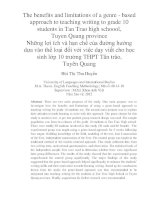 The benefits and limitations of a genre - based approach to teaching writing to grade 10 students in Tan Trao high schoool, Tuyen Quang province