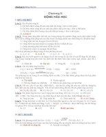 ngân hàng câu hỏi và đáp án hóa đại cương chương 5  động hóa học
