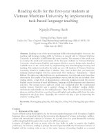 Reading skills for the first-year students at Vietnam Maritime University by implementing task-based language teaching