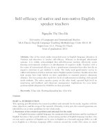 Self-efficacy of native and non-native English speaker teachers