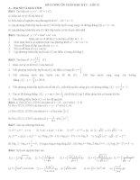 Đề cương ôn toán học kỳ I lớp 12